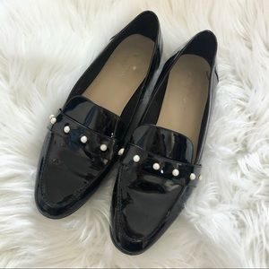 Kate Spade Sicily Patent Pearl Loafers